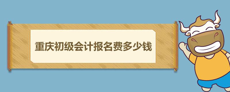 重庆初级会计报名费多少钱